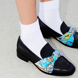 Jeffrey Campbell Sable Bollero Scarf Loafers